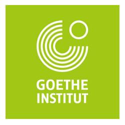 Sprecher Robert Braun spricht für das Goethe Institut