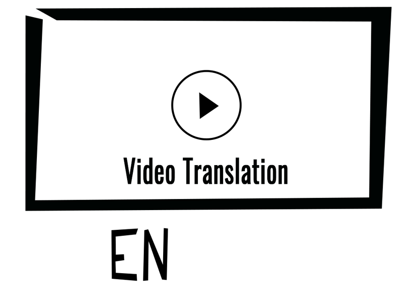 icon for the video translation service offered by robert braun